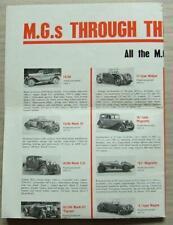 MG Car Poster ALL PRODUCTION MODELS 1924-66 MGA Midget 14/28 Magna 18/80 TIGRESS