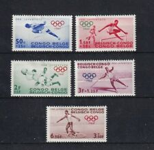 timbres  Congo belge  neufs *  sport olympique  1960
