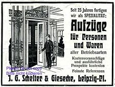Lift Schelter & Giesecke German 1907 ad liftboy Germany advertising