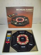 Vintage Michigan Rummy Casino Set by Lowe 1974 Plastic Tray & Chips