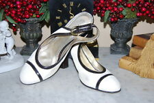 COACH MADE ITALY WHITE LEATHER HIGH HEEL SLING BACK WOMEN'S PUMP SHOES SIZE 11 B
