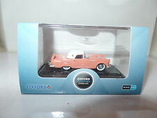 Oxford USA 87TH56001 TH56001 1/87 HO Ford Thunderbird 1956 Sunset Coral / White