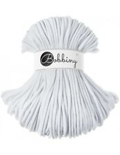Bobbiny koord color: WHITE / 100% Cotton 5mm Bobbiny Rope 100m  Macrame Cord