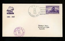 US Naval Ship Cover USS Helena CA-75 Cold War 12/12/1947 Columbus Day Cancel