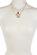 Lux Accessories Bird, Infinity Sign & Leaf Charm Necklace Set