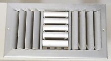 Silver - Wall - Ceiling Ventilation Grille – Adjustable Blades – Volume Control