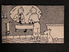 Tapis Axis Tintin devant le Miroir Salle de Bain 100x60 Cm Pure Laine État Neuf