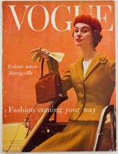 Eugene Vernier ERIC STEMP Marigold AUTUMN Corsets VOGUE Magazine August 1955 vtg