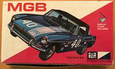 MPC 7506-75  MGB 1/32 SCALE VINTAGE CAR MODEL KIT  w/ DISPLAY STAND  RARE NICE