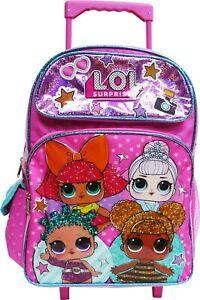 "LOL Surprise! 16"" Large School Rolling Backpack Girls Book Bag"