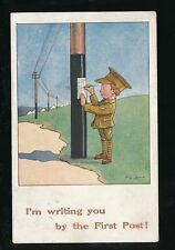 Military Comic Artist F G LEWIN WW1 Soldier First Post Used 1917? PPC