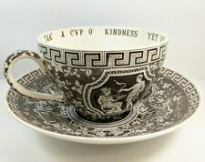 Nouvelle annonce Spode Copeland Huge Jumbo Tea Coffee Cup of Kindness+Saucer Brown Greek Bowl
