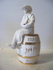 2011 IAJBBSC Jim Beam Cowboy On A Barrel Special 22K Gold & White Decanter