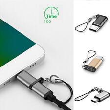 USB Typ C Adapter USB C auf Micro USB Konverter Anschluss mit Schlüsselbund Neu