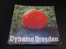 DDR Fußball Programm 19 Dynamo Dresden Sonderprogramm 1977 mit Poster