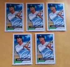 5 HANK GREENBERG Commemorative MINT US Postage Stamps Lot Detroit Tigers JUDAICA