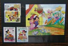 Grenada Grenadines 1985 Grimm Brothers Walt Disney set & Miniature Sheet Used