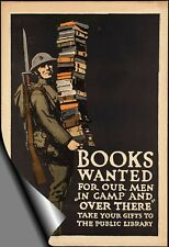 "WW1 BOOKS NEEDED Advertising Poster - 30"" x 20""   Print"