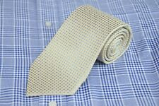 Joseph Abboud Men's Tie Gold & Arctic Blue Geometric Woven Silk Neck 62 x 3.75