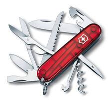 VICTORINOX Huntsman Rot transparent NEU Offiziersmesser Taschenmesser 1.3713.T