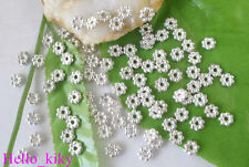 700 pcs Silver plated Daisy spacer beads 5mm M301