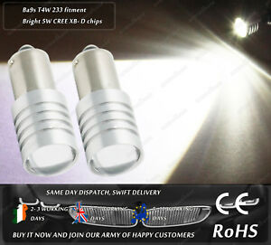 Cree LED Ba9s T4W 233 Xenon White Sidelights Parking Spot Bulbs Side Lights 12V