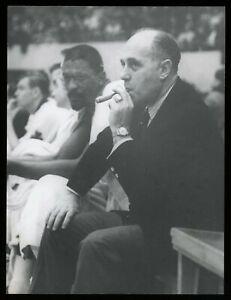 Red Auerbach & Bill Russell 1968 Celtics NBA Type 1 Original Photo Victory Cigar