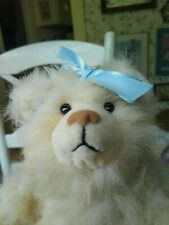 Vintage plush Artist Teddy bear by Stephanie Daniels of Matis Originals 12in Euc