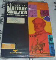 "100% Complete UNIVERSAL MILITARY SIMULATOR Rainbird AMIGA Big Box Game 3.5"" disk"