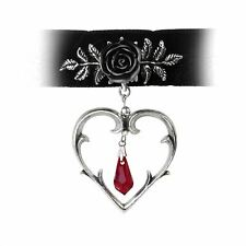 Wounded Love Choker - Alchemy Gothic Heart Jewellery P740