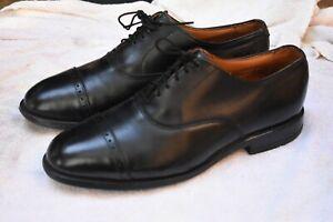 Allen Edmonds Byron Captoe Black Oxfords - 8.5D