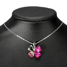 Precioso Colgante trébol de la fortuna con cristales tipo swarovski regalo mujer