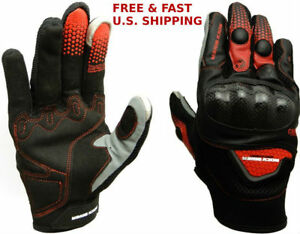 TACT!CAL GLOVES Motorcycle Carbon Fiber Hard Knuckle Breathable TOUCHSCREEN TIPS