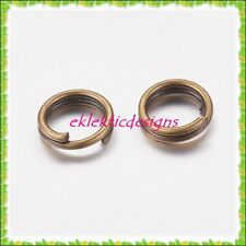 5mm 200pcs Antique Brass Bronze Split Dbl Jump Rings Jewelry Findings Earrings