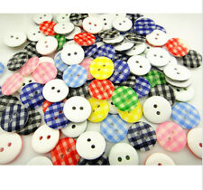New 40 Pc Plastic Round Buttons multicolor 2 Hole Buttons Sewing or Scrapbook N8