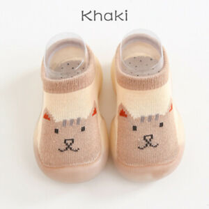 Girls Boys Toddler Cute Cratoon Animal Printed Socks Soft Non-Slip Ankle Boots