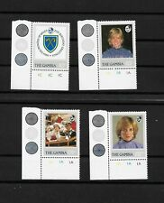 Gambia, 1982 Princess Diana birthday complete set in corner marginals MNH (8194)