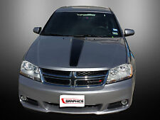 08-14 DODGE AVENGER HOOD STRIPE GRAPHICS DECALS - TONS OF COLOR OPTIONS