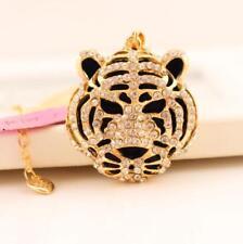Chain Tiger head Necklace gift Jewelry Fashion Betsey Johnson Pendant Rhinestone