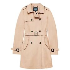 Jack Wills Womens Mitford Classic Trench Mac Coat Cotton New