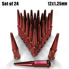 Spike Lug Nuts 12x1.25 fit Nissan Frontier Titan Armada Infiniti QX56 QX80 Red