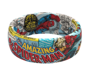 Groove Life SPIDER-MAN CLASSIC COMIC RING Size 11 Silicone NEW