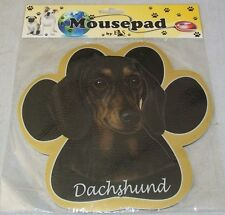 DACHSHUND Black Dog Paw Shaped Computer MOUSE PAD Mousepad NEW IN PACKAGE