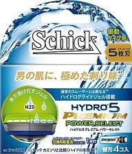 Nuevo Schick Hydro 5 Premium Power seleccionar Cuchilla de repuesto 4  piezas de Japón b2a66e202a8f