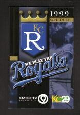 Kansas City Royals--1999 Pocket Schedule--KMBC/Subway
