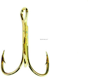 Eagle Claw 376AH-14 Treble Hook Size 14, 1/4 oz, Curved/Forged, 2X Strong Heavy