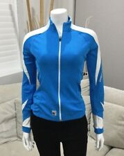 NETTI Womens Cycling Running Sports Shirt Blue and White Size 8 [WS1]