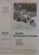 Sears Hydraulic Loader 100.265161 Garden Tractor Owner & Parts Manual FF 18 20