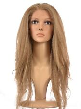 Hair by Isstresses Fergie Crimped Yaki Style Lace Front Wig Ash Blonde