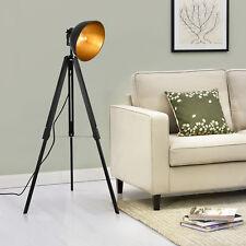 Lampadaire rétro, lampe studio Big Alona noire et or 10593